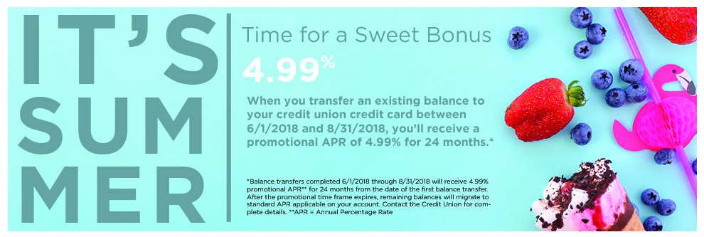 Summer loan promotion for credit card balance transfers